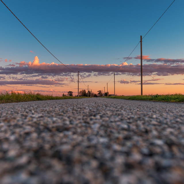 """""""Countryside road"""" stock image"""