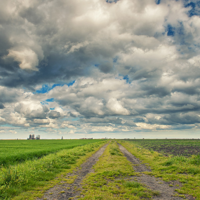 """""""Spring cloudy sky"""" stock image"""