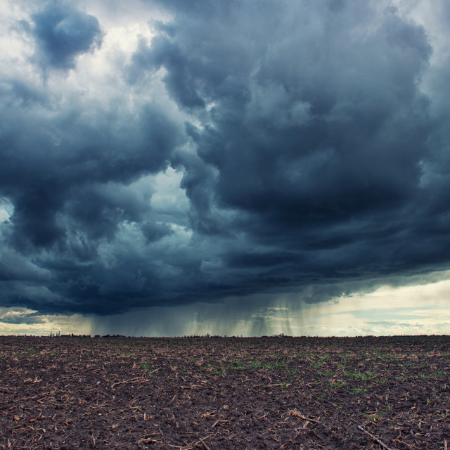 """Dark cloudy sky"" stock image"