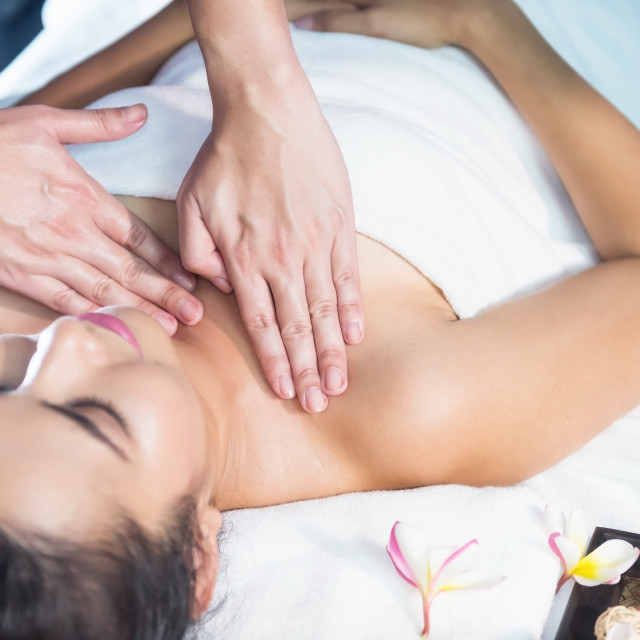 """Body care treatment by Thai oil"" stock image"