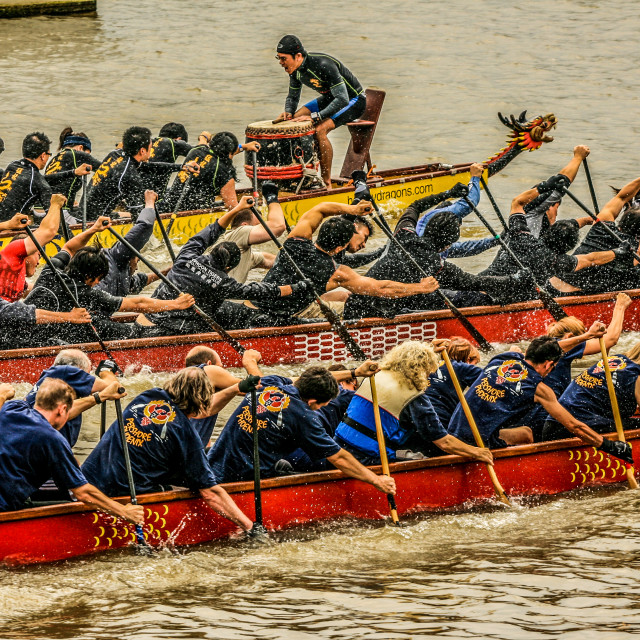 """Dragon Boats"" stock image"
