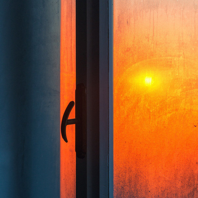 """Sunrise in the windows"" stock image"