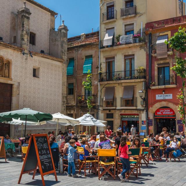 """La Plaza del Rei, Tarragona, Catalonia, Spain, Europe"" stock image"