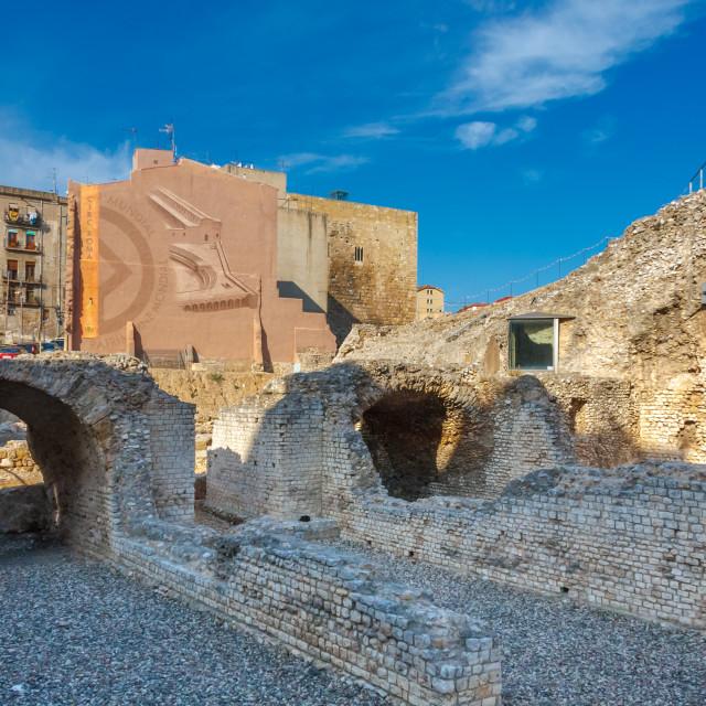 """Circo Romano (Circ Roma in Catalan) in the old town of Tarragona"" stock image"
