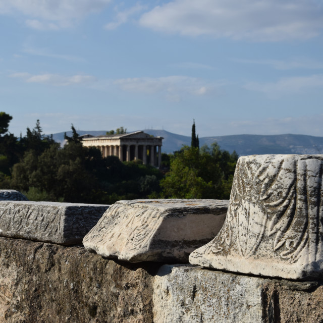 """""""ancient agora"""" stock image"""