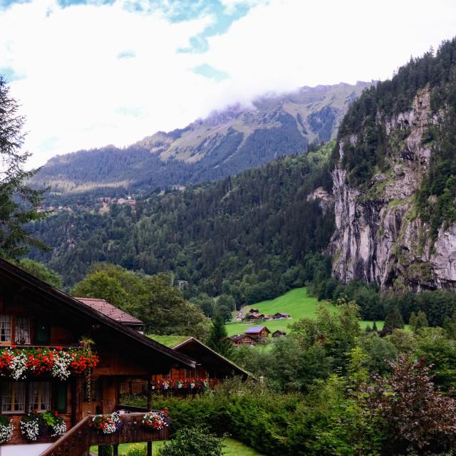 """Lauterbrunnen Valley, Jungfrau Region, Switzerland"" stock image"