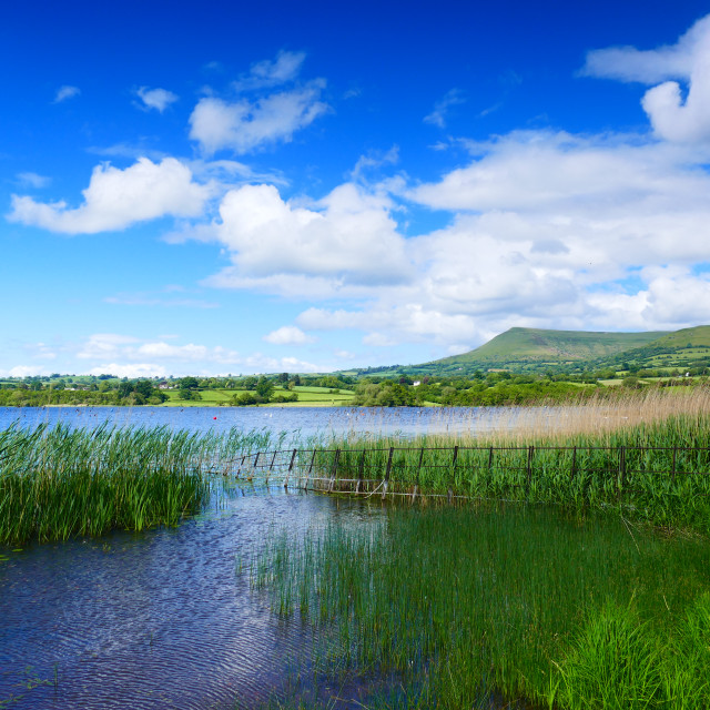 """Welsh lake"" stock image"