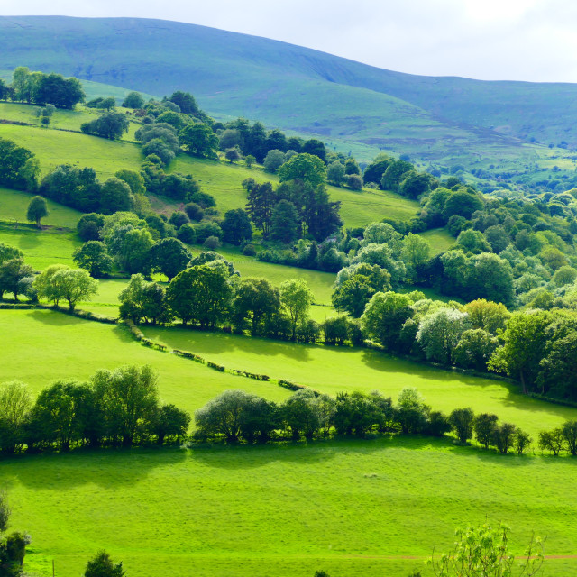 """Welsh Landscape"" stock image"