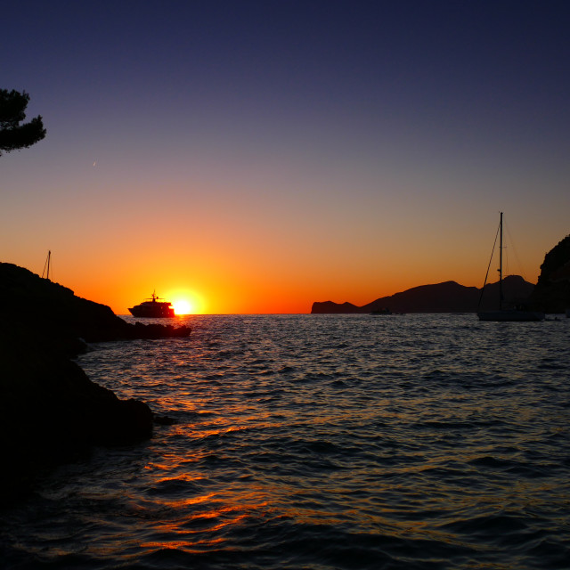 """Sunset in Andtrax Mallorca"" stock image"