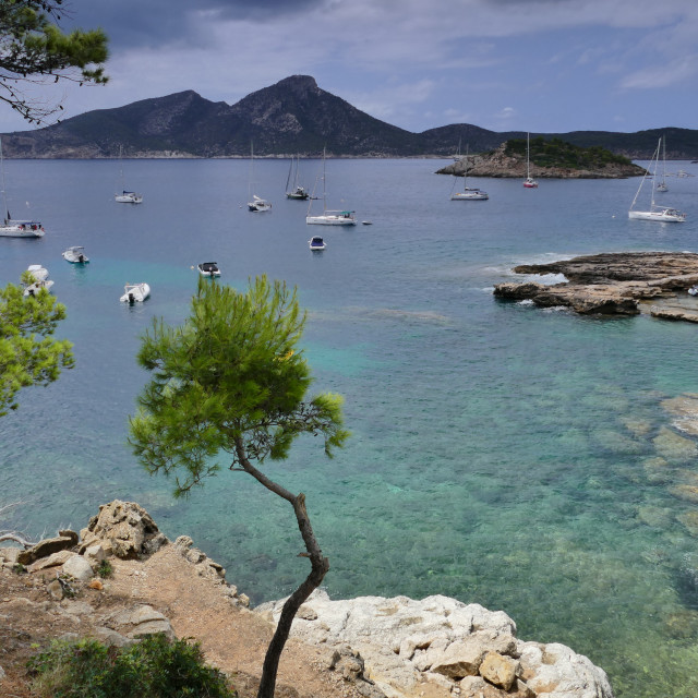 """Cove in Mallorca"" stock image"