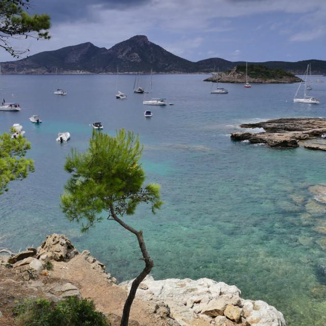 """""""Cove in Mallorca"""" stock image"""