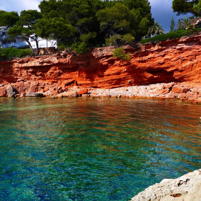 """Beautiful cove in Mallorca"" stock image"
