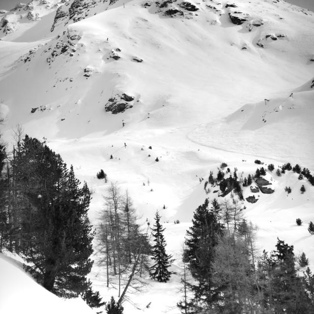 """Alpine Snowy Mountain"" stock image"