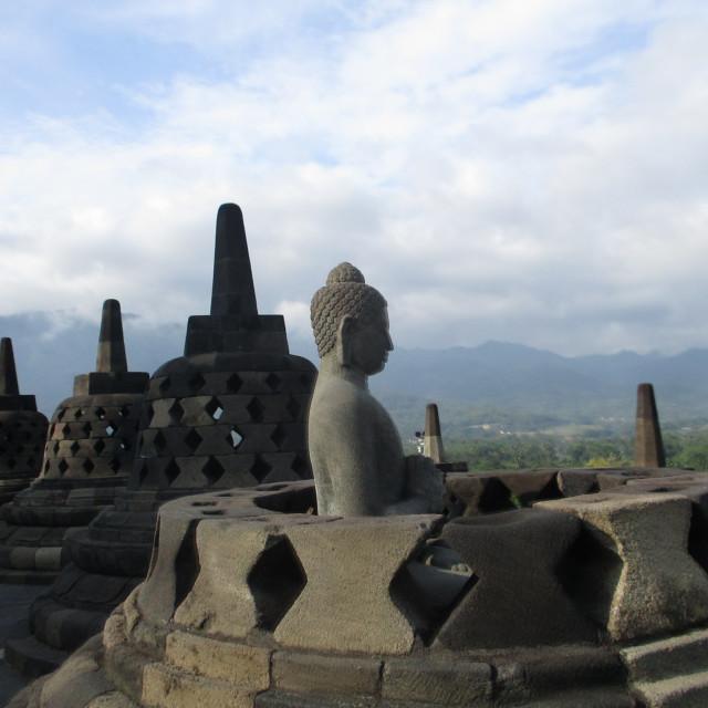 """""""Borobudur Buddhist Temple, Java"""" stock image"""