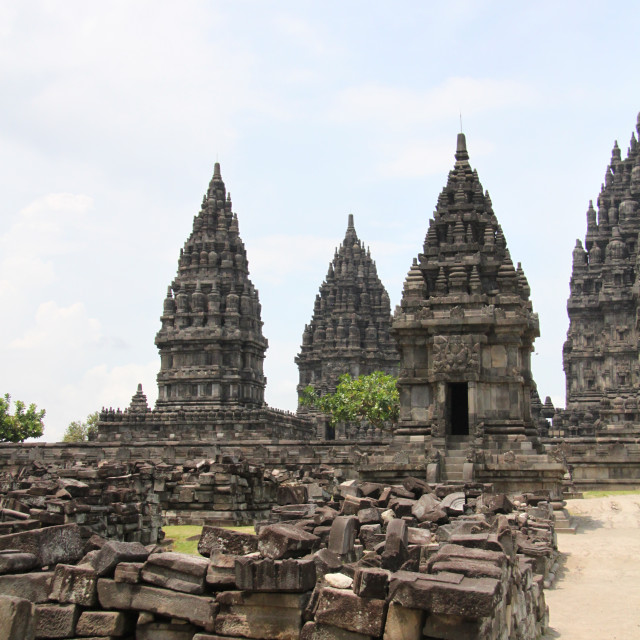 """Prambanan Hindu Temple, Java"" stock image"