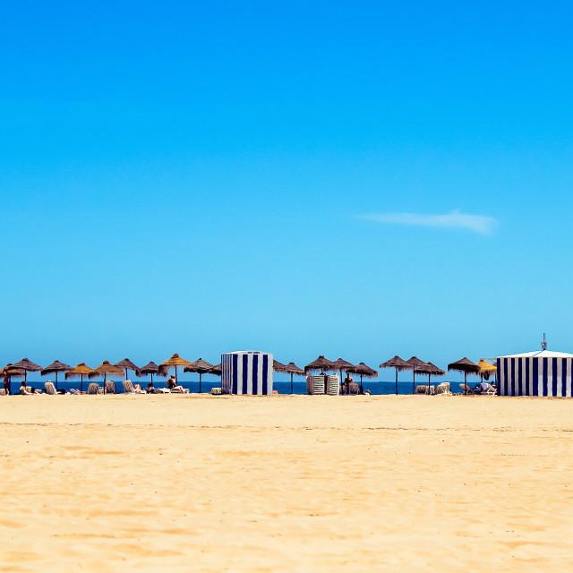 """Valencia Beach"" stock image"