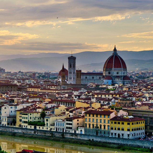 """Florence in evening light"" stock image"
