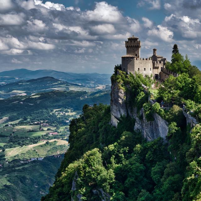 """Montale Fortress San Marino"" stock image"