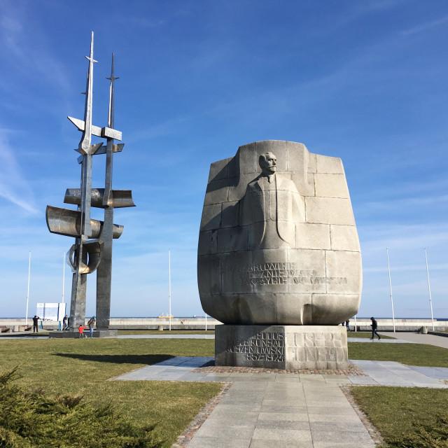 """Gdynia: Joseph Conrad Monument"" stock image"