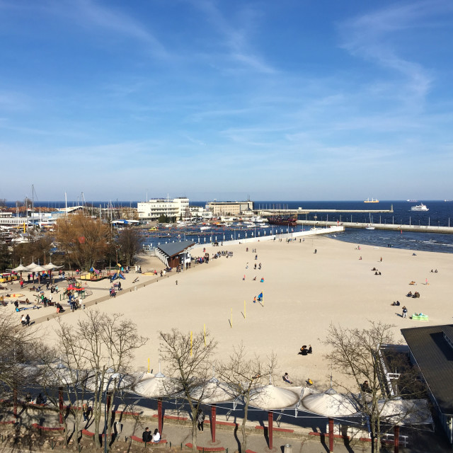"""Gdynia: City Beach & Waterfront"" stock image"