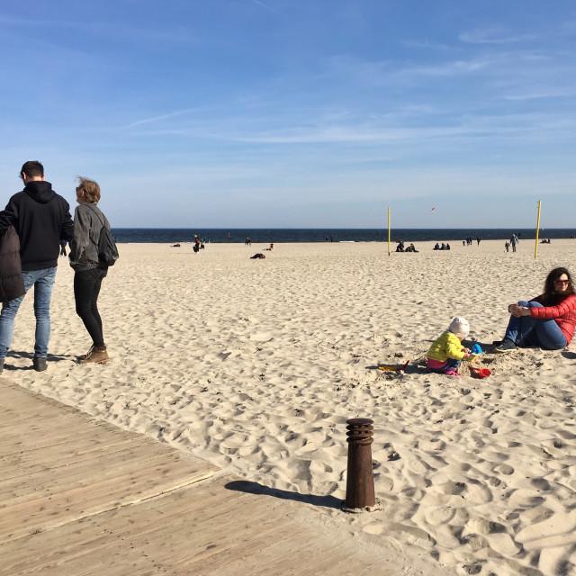 """""""Gdynia: City Beach"""" stock image"""