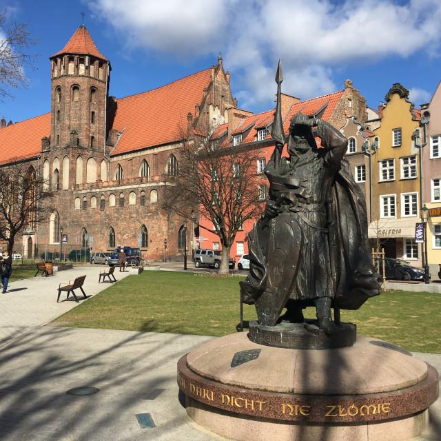 """Gdansk: Świętopełk Monument"" stock image"