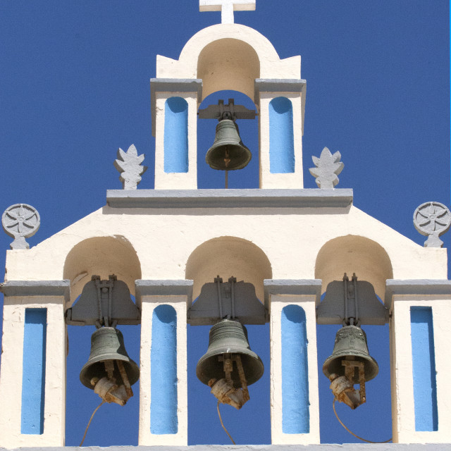 """Church Bells in Fira"" stock image"