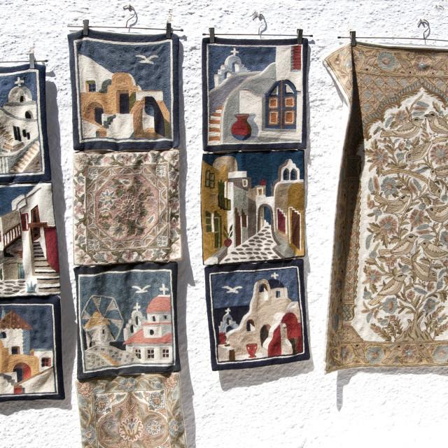 """Craftwork on Display on Santorini"" stock image"