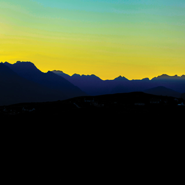 """The Cuillin Hills"" stock image"