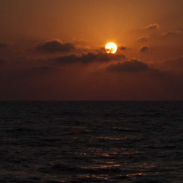 """""""Cyprus Sunset over the Mediterranean Sea"""" stock image"""