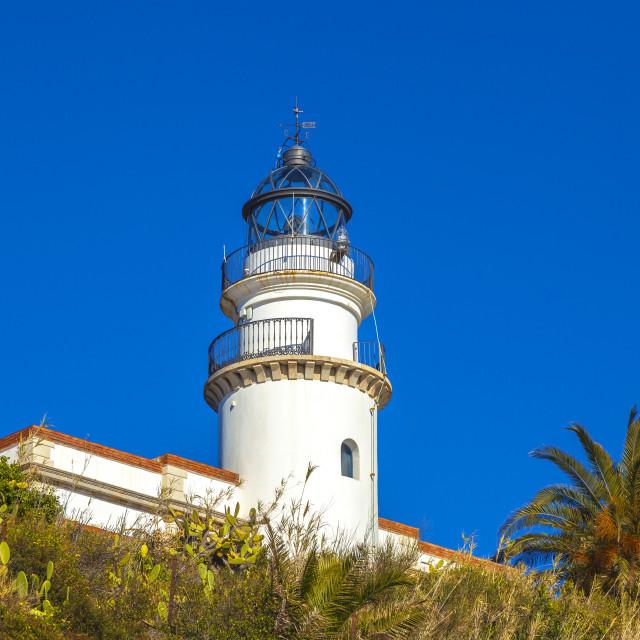 """Calella lighthouse"" stock image"
