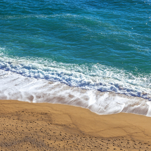 """""""Idyllic beach with tuquoise sea and golden beach."""" stock image"""