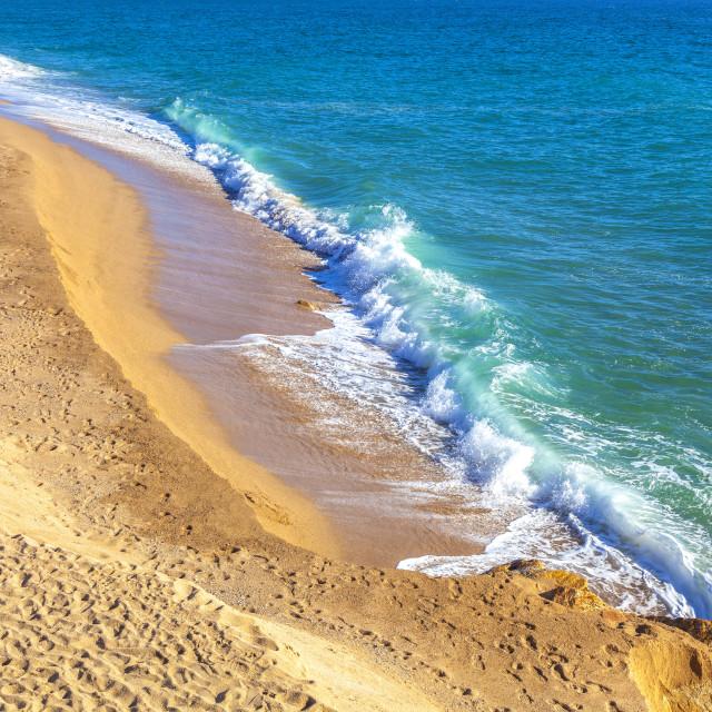"""Idyllic beach with tuquoise sea"" stock image"
