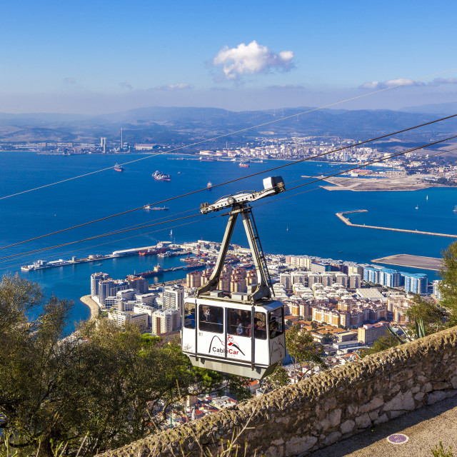 """""""Cable car Gibraltar"""" stock image"""