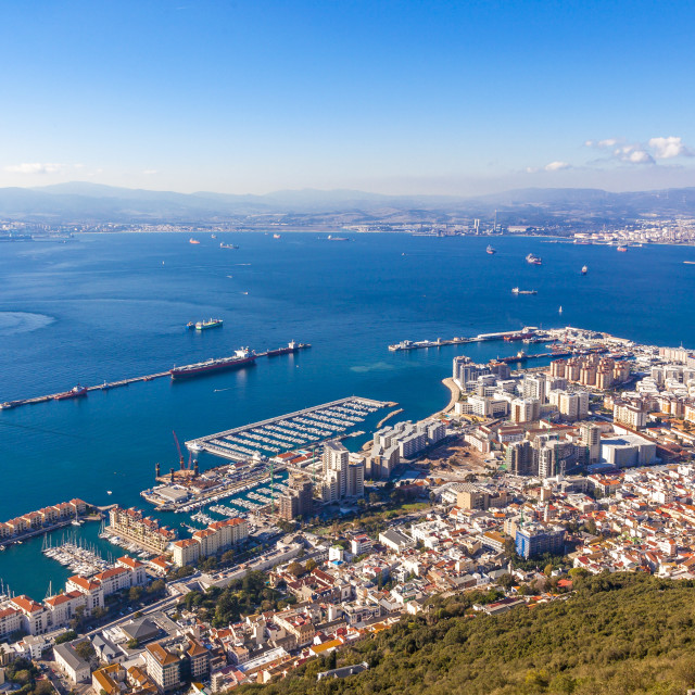 """Gibraltar view"" stock image"