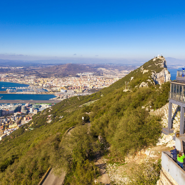 """""""Top of the rock, Gibraltar"""" stock image"""