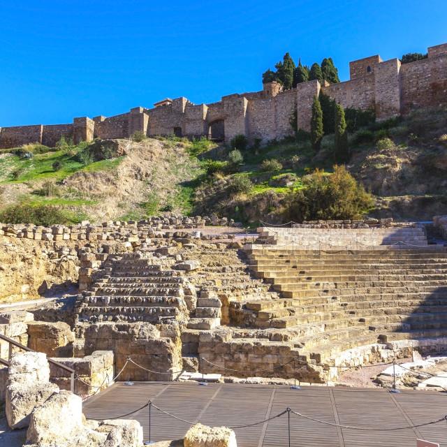 """""""Roman theatre Malaga"""" stock image"""