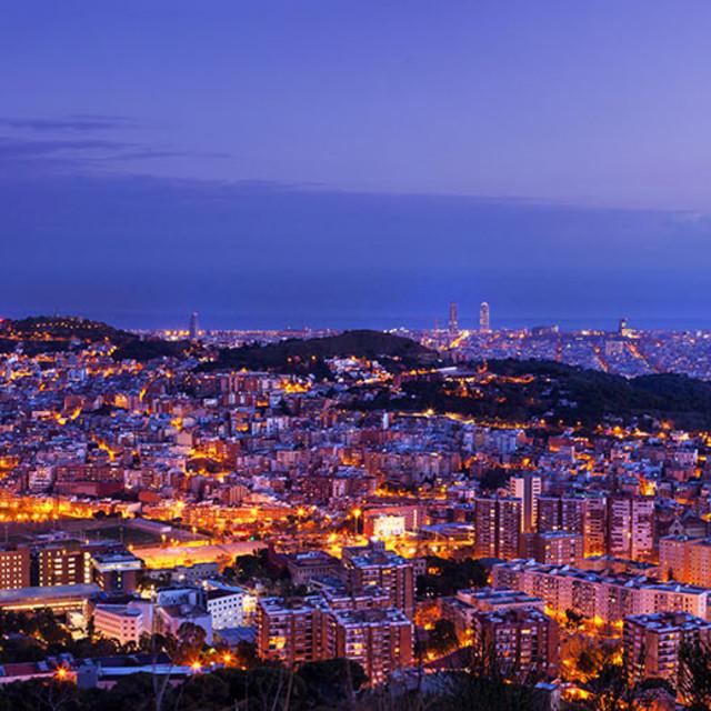 """Barcelona skyline"" stock image"