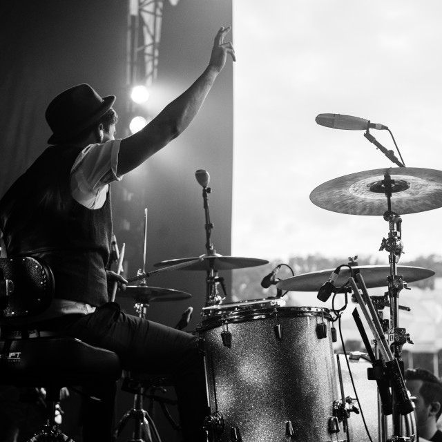 """Drummer on stage 2"" stock image"
