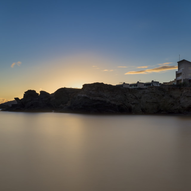 """Sunset at Cabo de Palos, Murcia."" stock image"