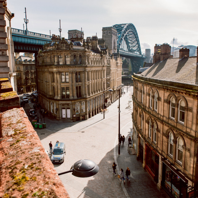 """Newcastle's most famous bridge"" stock image"
