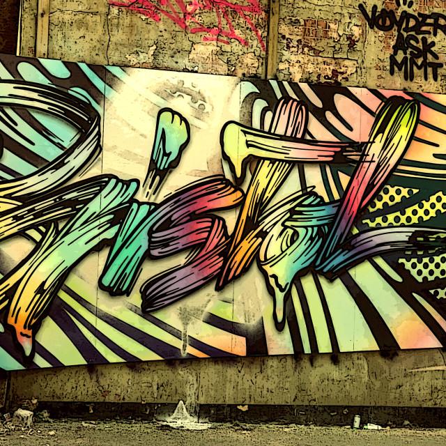 """Bristol- street art capital of the world"" stock image"