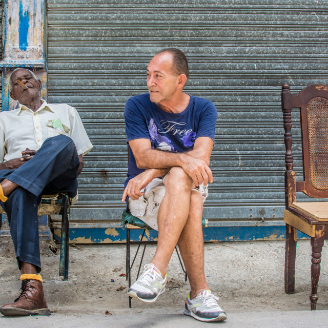 """Relaxing afternoon in Havana"" stock image"