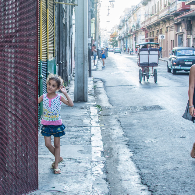 """Havana street"" stock image"