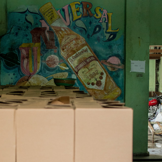 """Rum factory in Cuba"" stock image"
