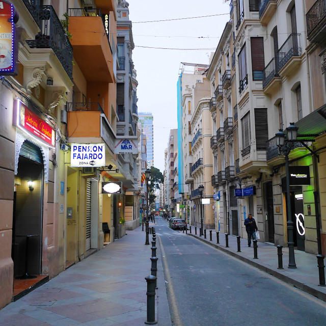"""Citystreet in Alicante"" stock image"