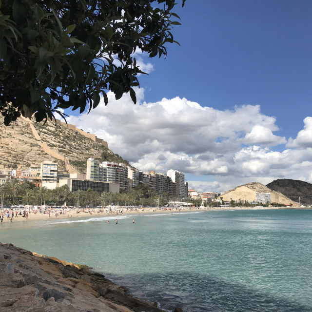 """At the coast in Alicante"" stock image"