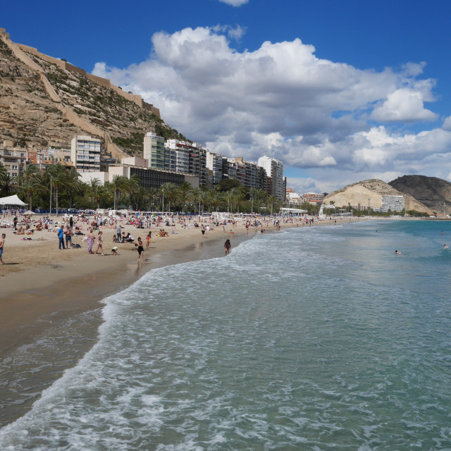 """The beach in the city of Alicante"" stock image"