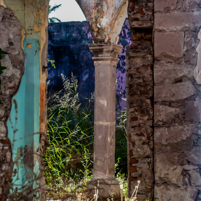 """""""Abandoned Building in Culiacan, Mexico"""" stock image"""