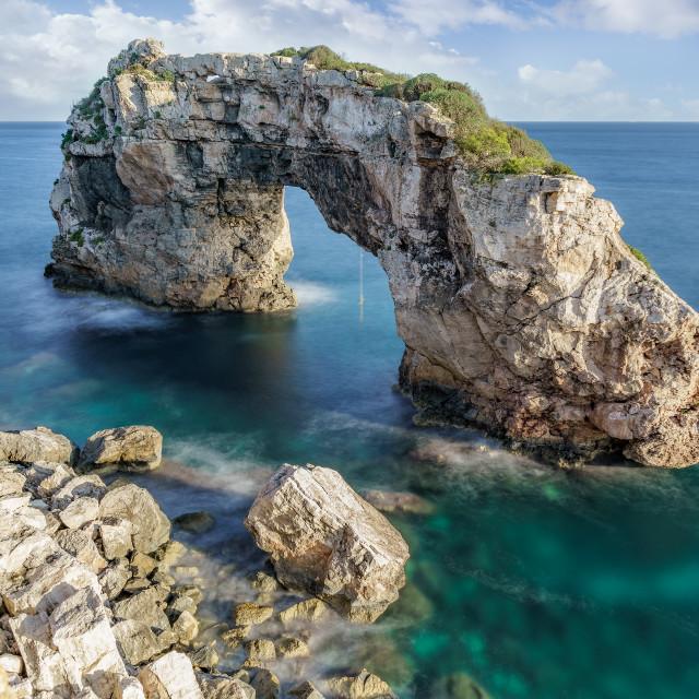 """Natural Stone Bridge: Es Pontàs"" stock image"